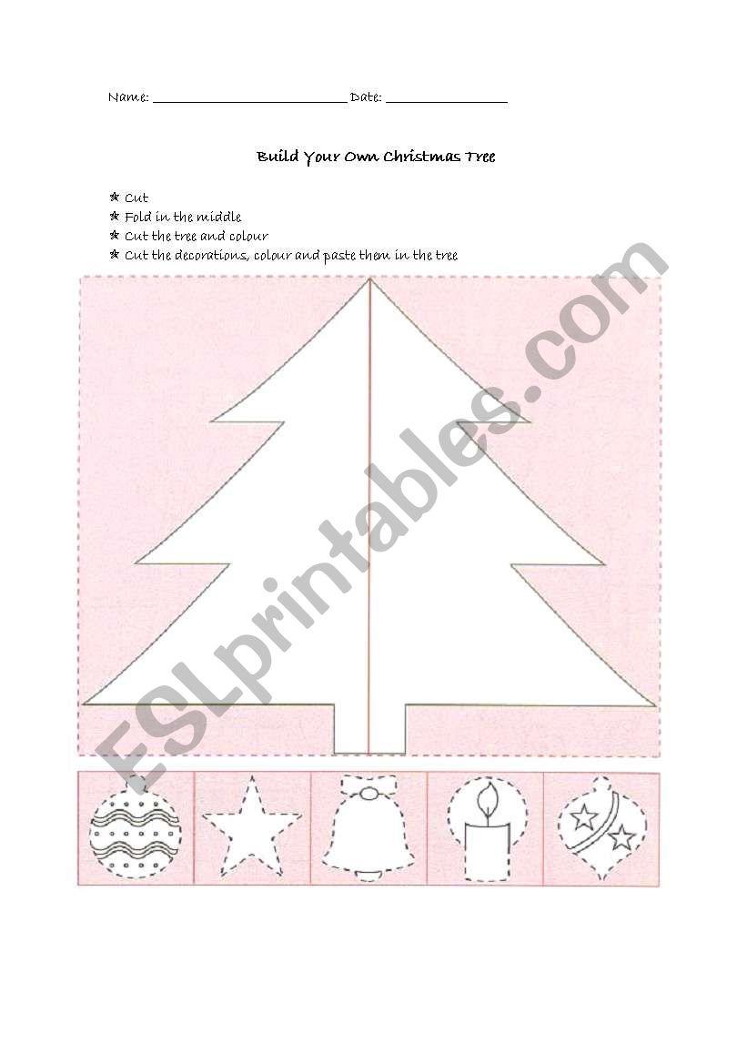 Build a Christmas Tree worksheet