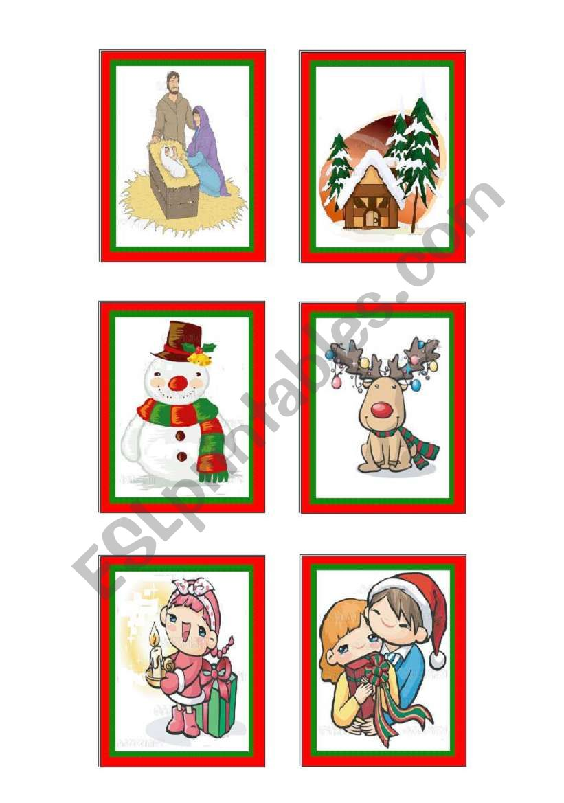 christmas-cards 10 - 10 worksheet