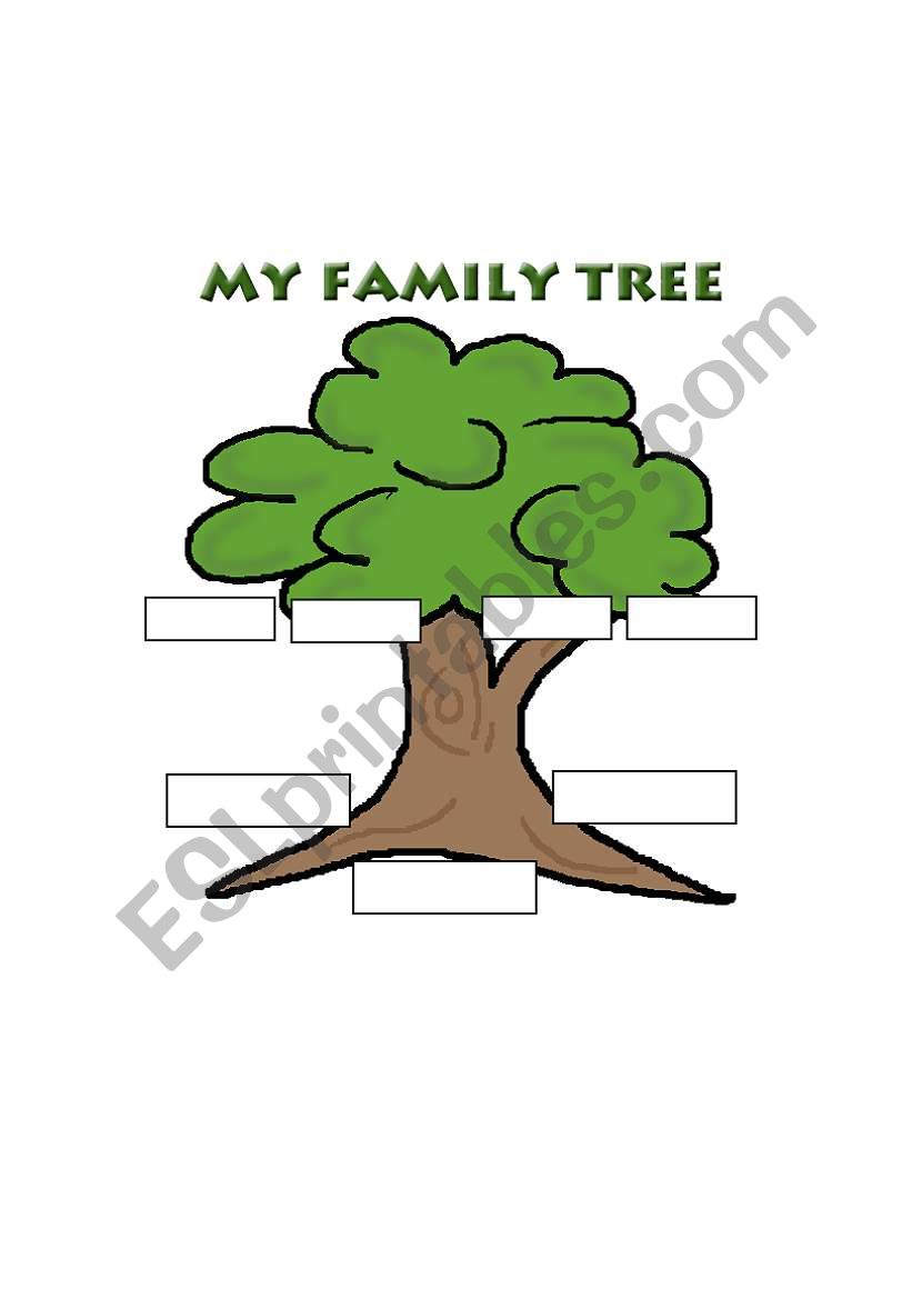 english worksheets  family tree template