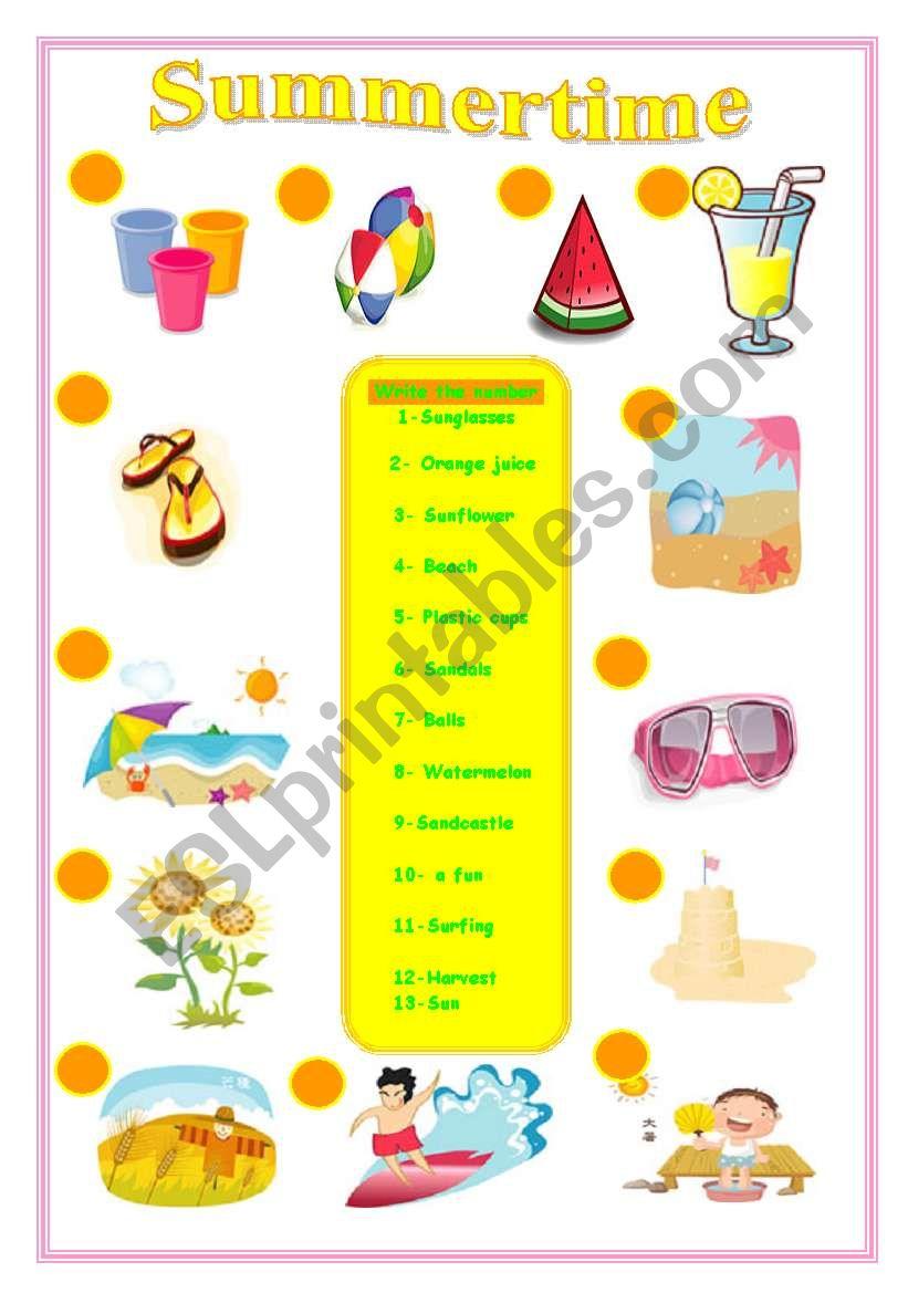 vocabulary summer time esl worksheet by sruggy. Black Bedroom Furniture Sets. Home Design Ideas