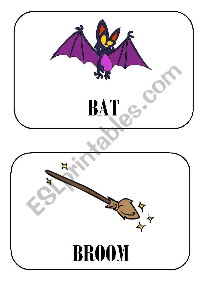 halloween flashcards part 6 worksheet