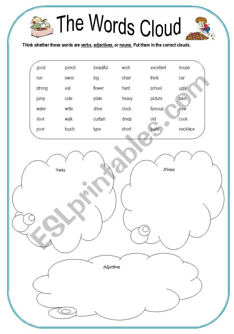 Word Cloud worksheet