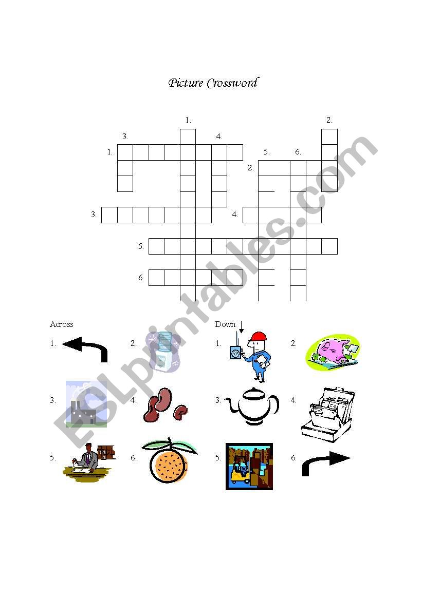 Miscellaneous Picture Crossword