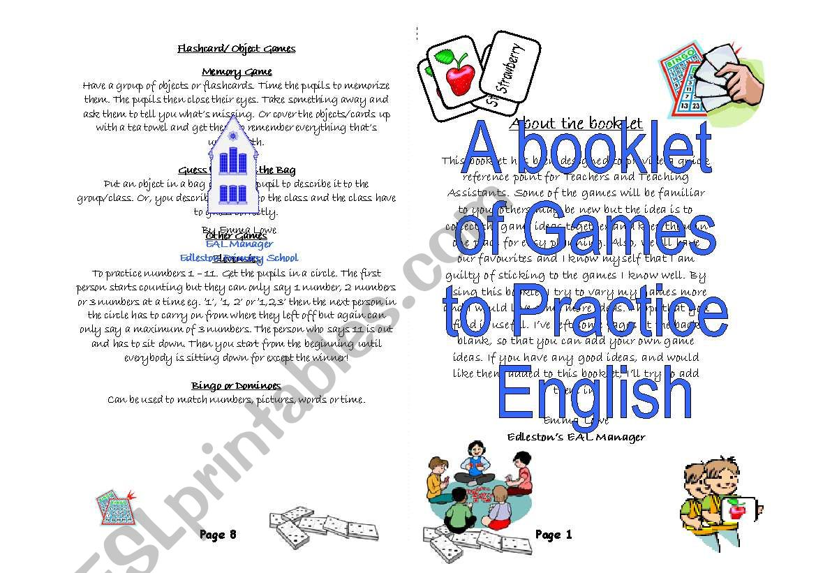 A booklet of Games to Practice English