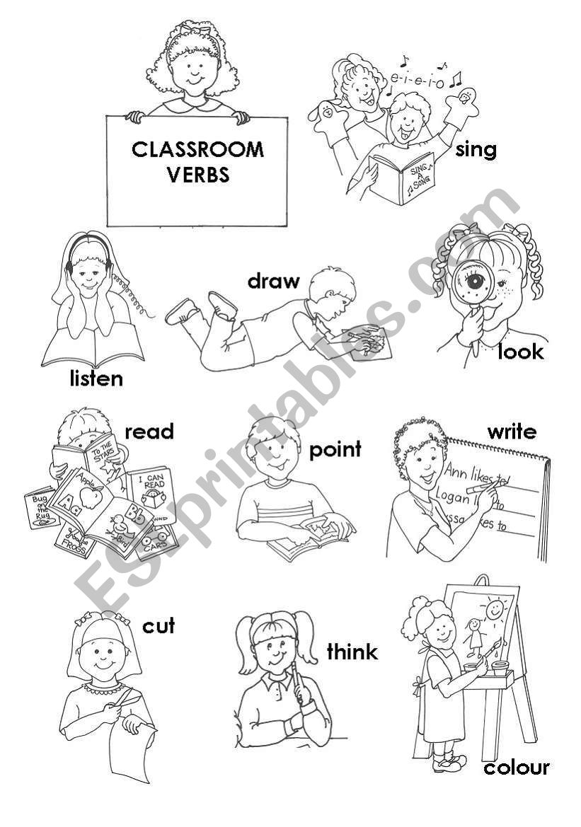 classroom actions worksheet