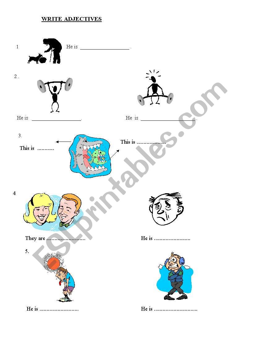 Adjectives Worksheet  worksheet