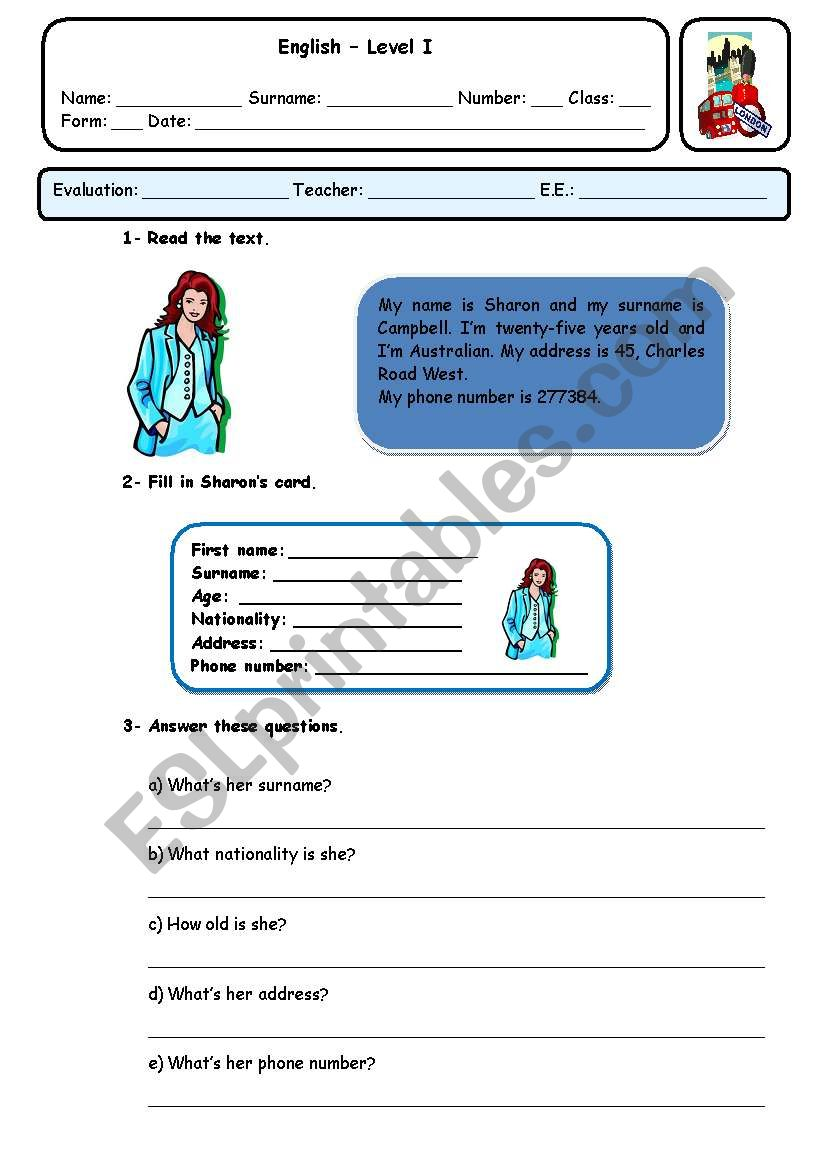 PHONE NUMBERS AND ADDRESSES - ESL worksheet by xani