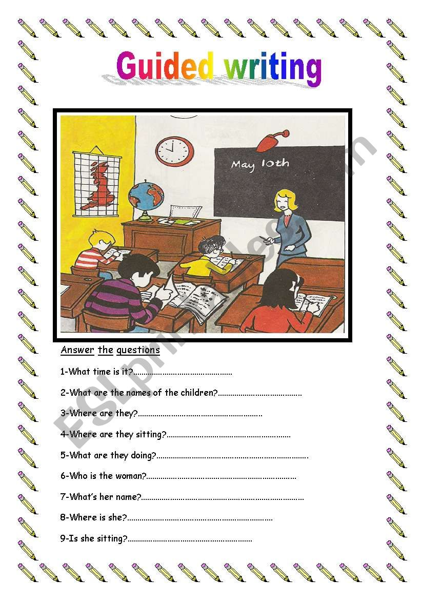 guided writing esl worksheet by sirah. Black Bedroom Furniture Sets. Home Design Ideas
