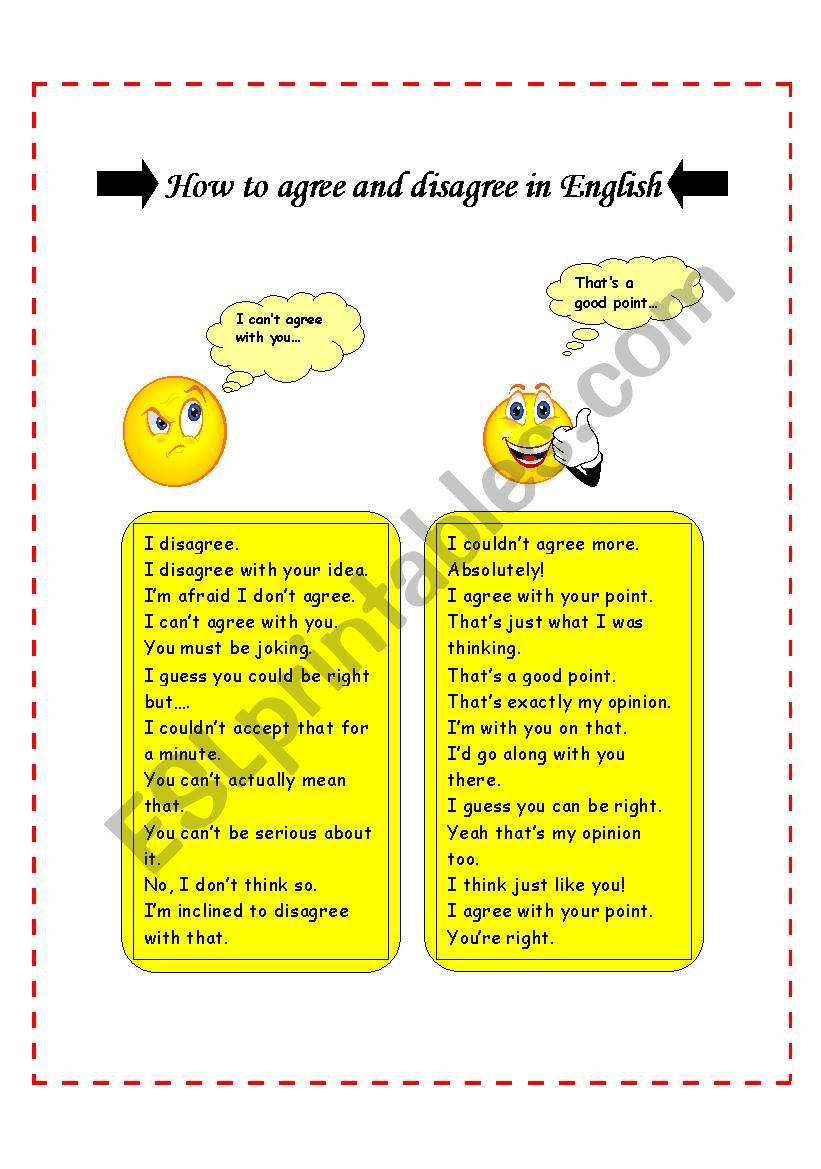 How to agree and disagree in English
