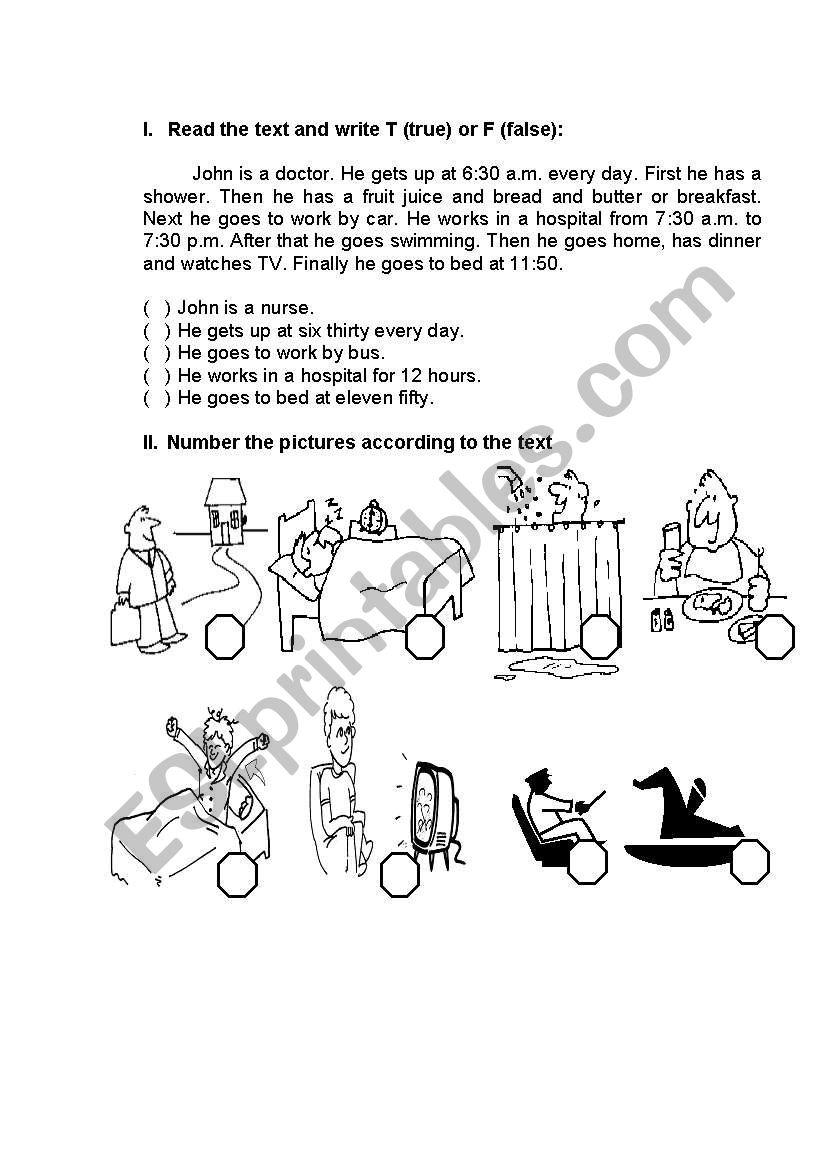 Routine worksheet