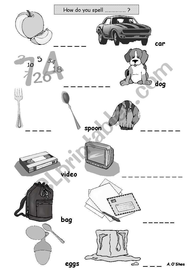 Alphabet Gapfill For Adult Esl Esol Literacy Students