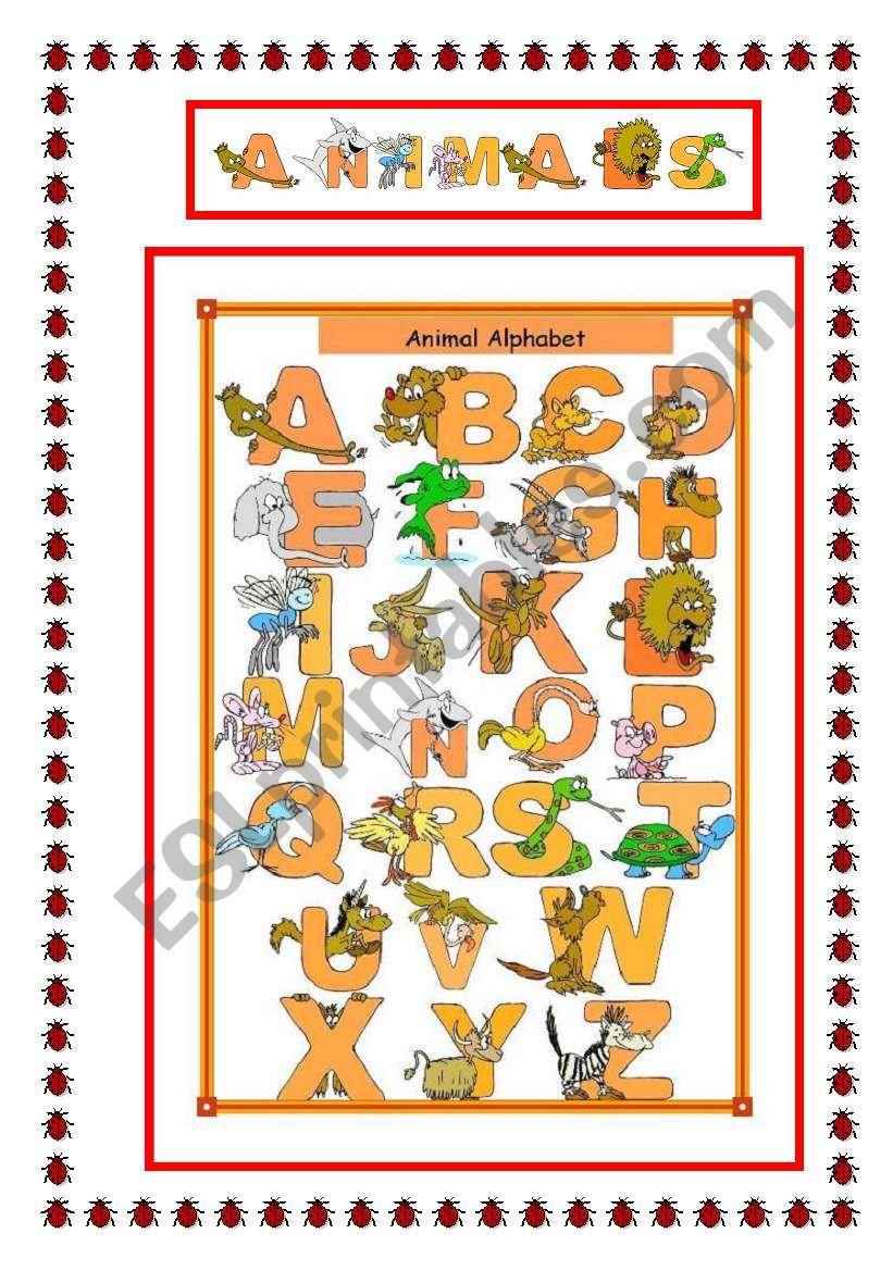 Animal Alphabet worksheet