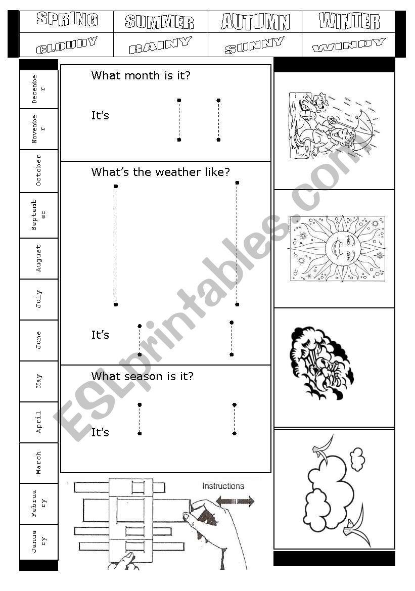 WEATHER REPORT DIY CALENDAR worksheet