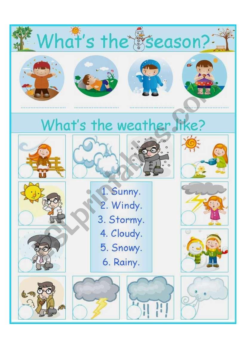 season and weather worksheet