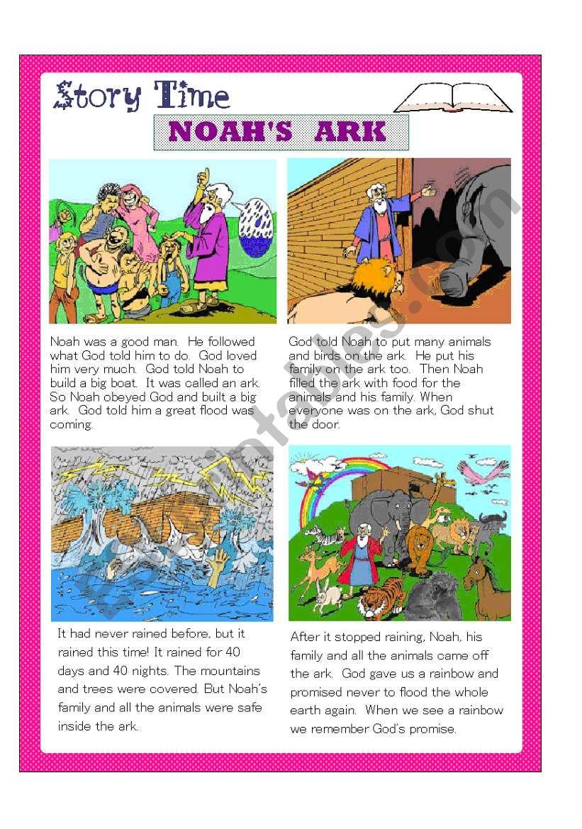 Noah´s Ark worksheet