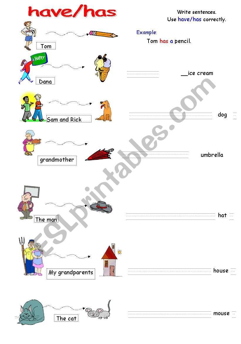 have has easy grammar worksheet esl worksheet by victoria ladybug. Black Bedroom Furniture Sets. Home Design Ideas