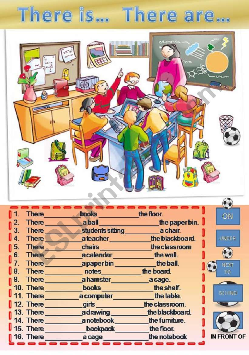 There is / are  and prepositions