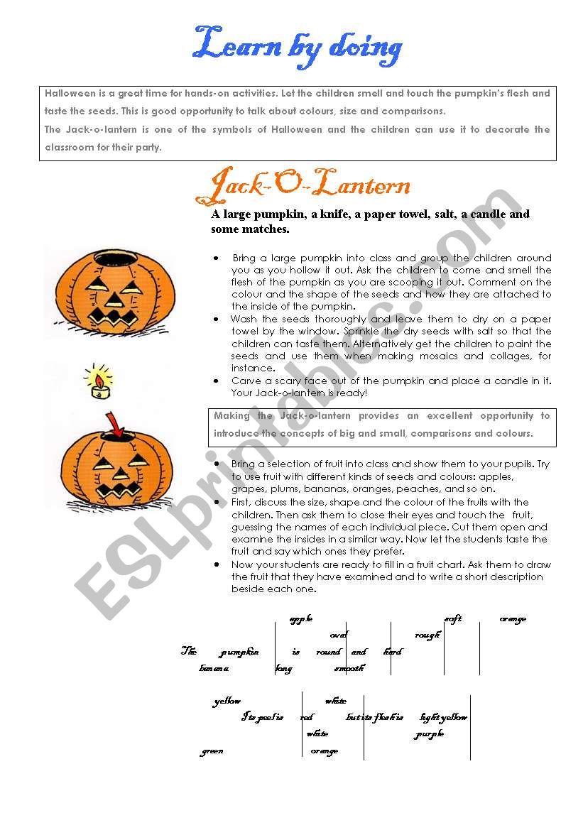 Halloween activities (set 1/9)