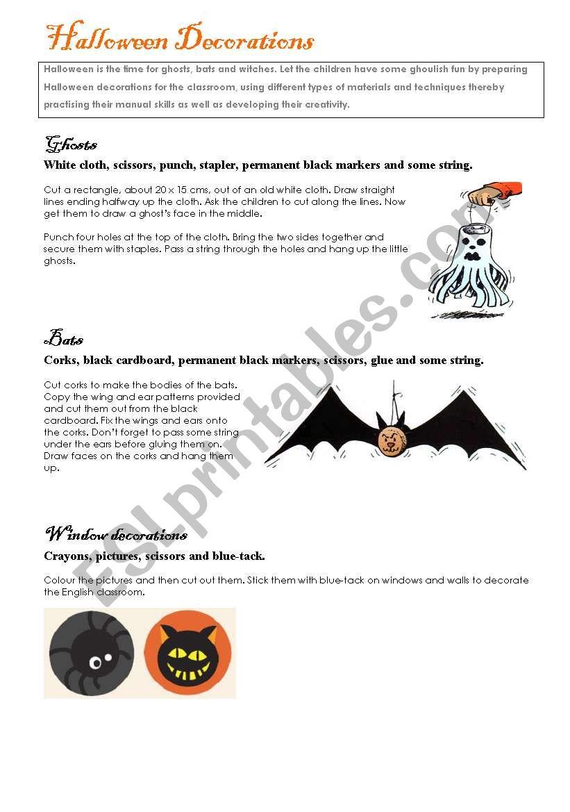 Halloween activities (set 3/9)