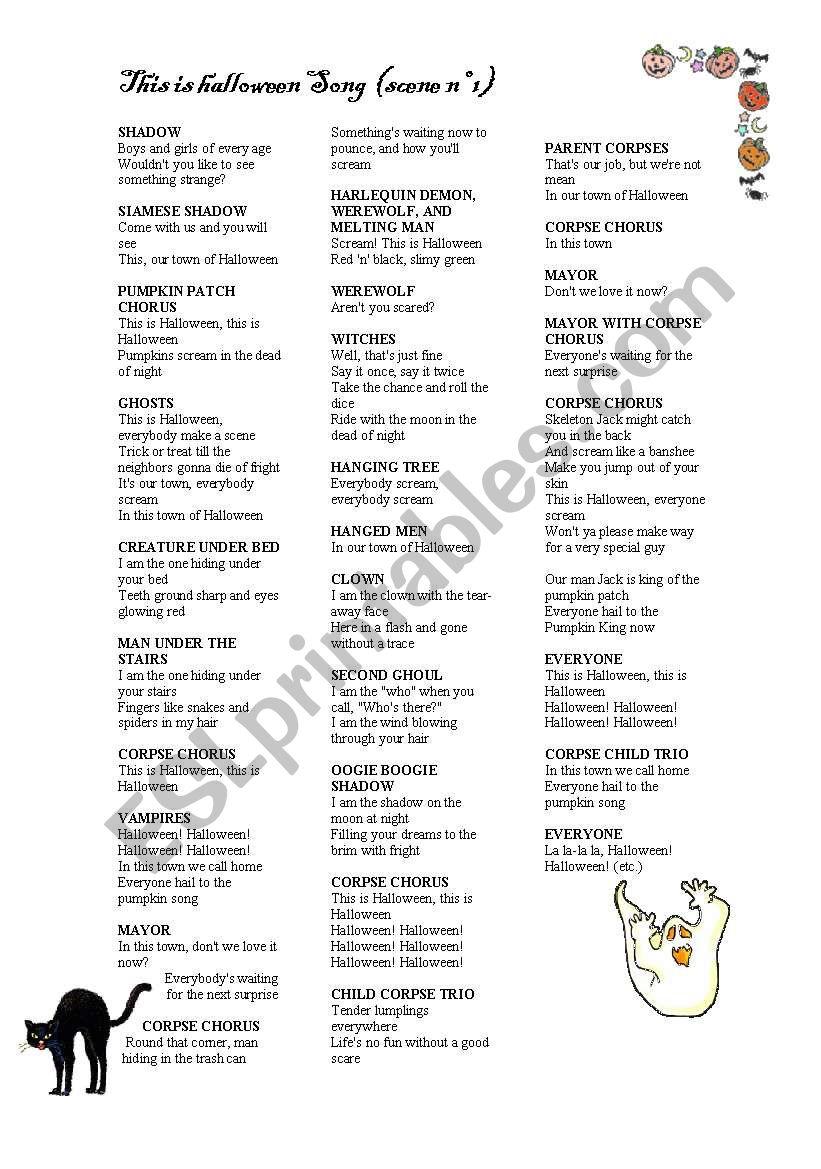 THE NIGHTMARE BEFORE CHRISTMAS PART 2 - ESL worksheet by nikita2008