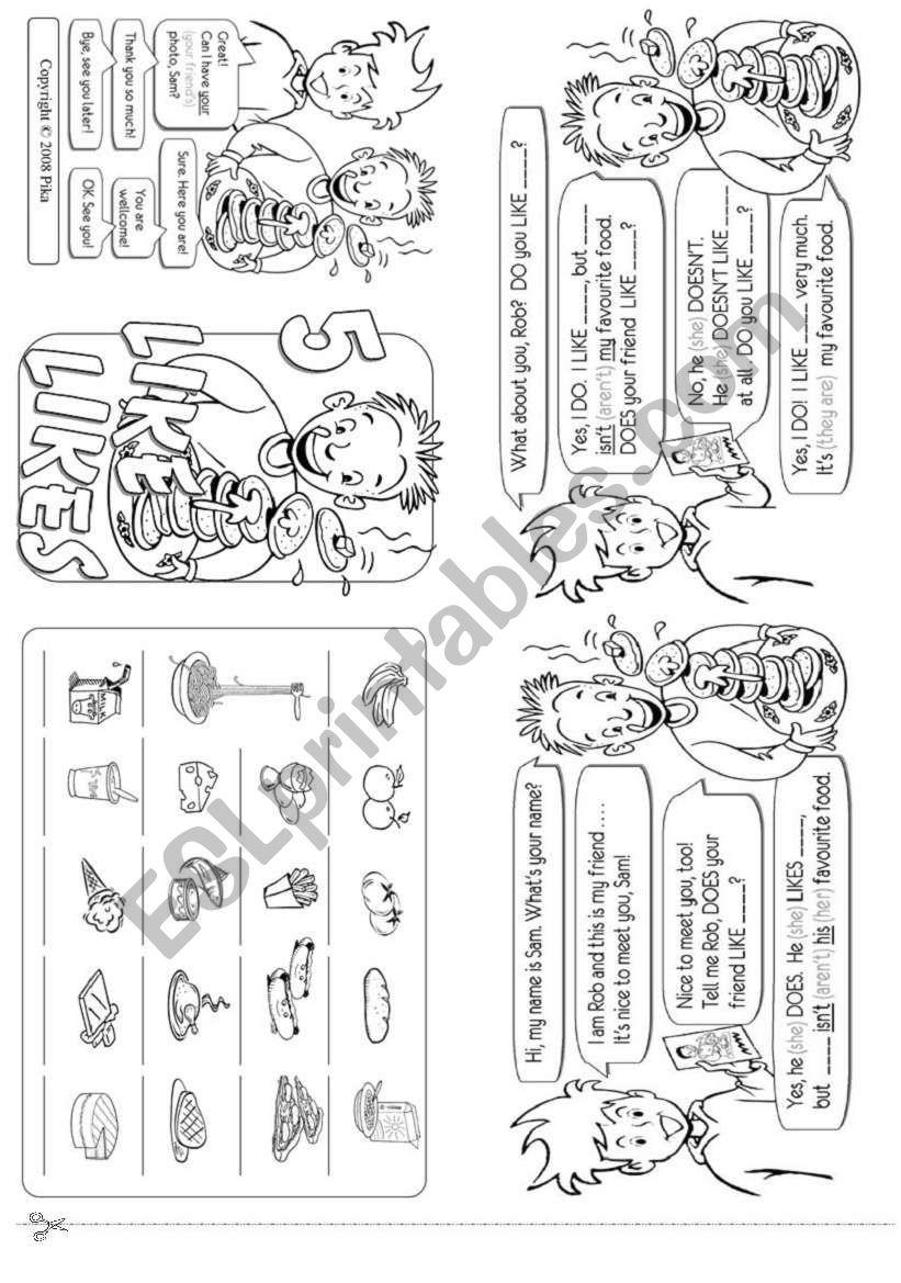 Favourite Food worksheet