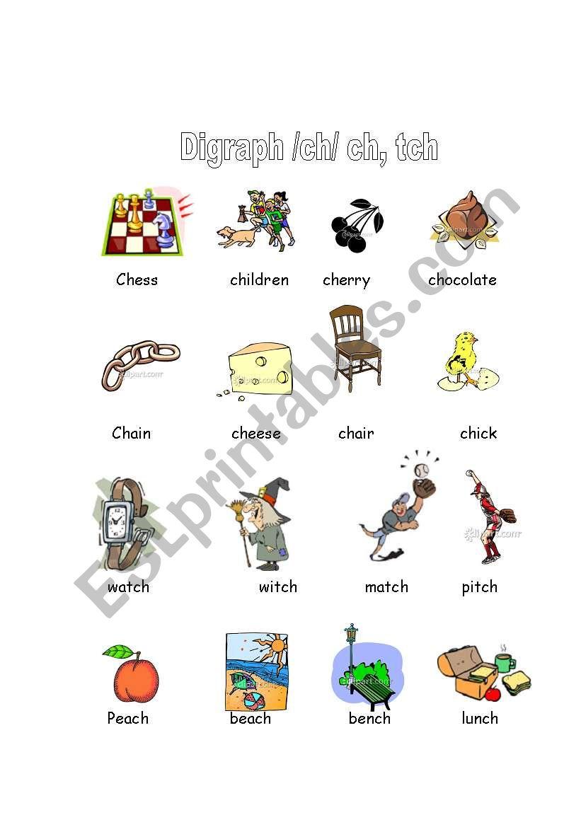 worksheet Ch And Tch Worksheets english worksheets digraphs ch tch worksheet