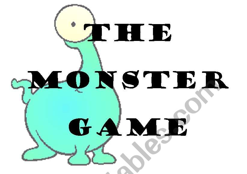 THE MONSTER GAME - board game 1