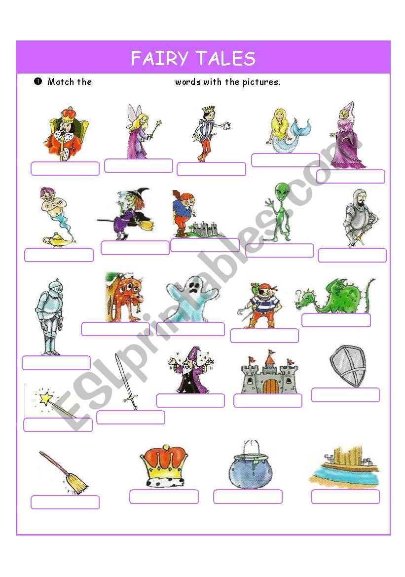 Fairy Tales Esl Worksheet By Oregon91