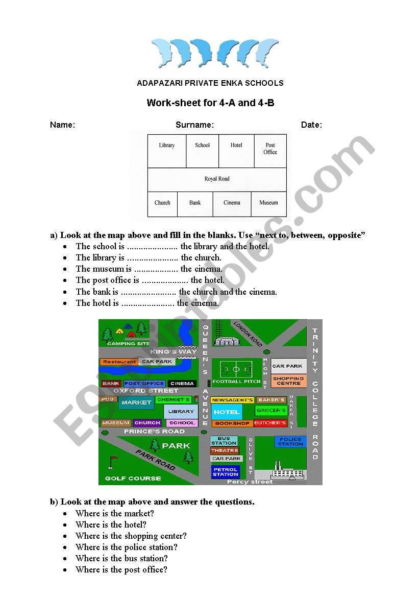 directions worksheet