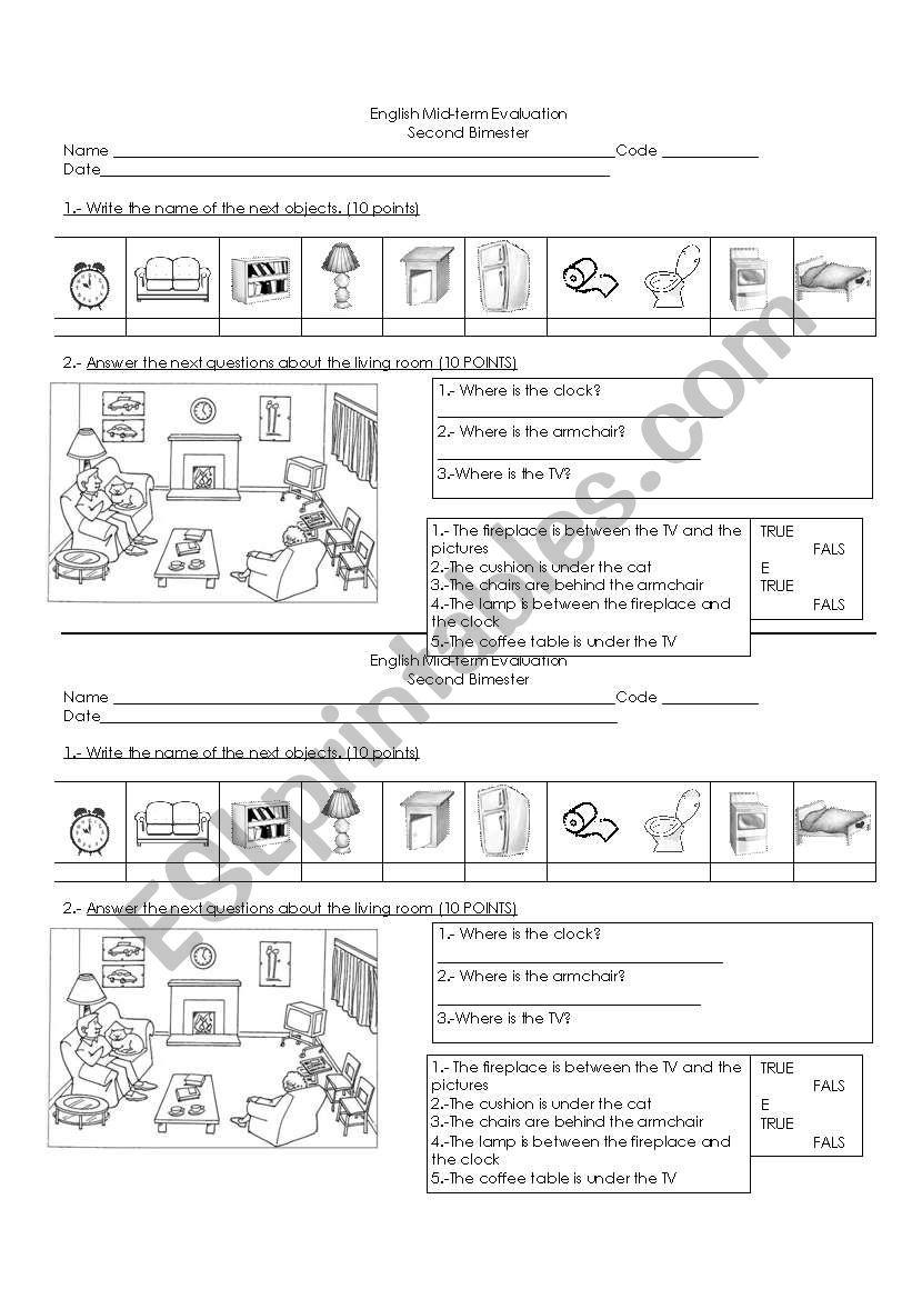 partial evaluation worksheet