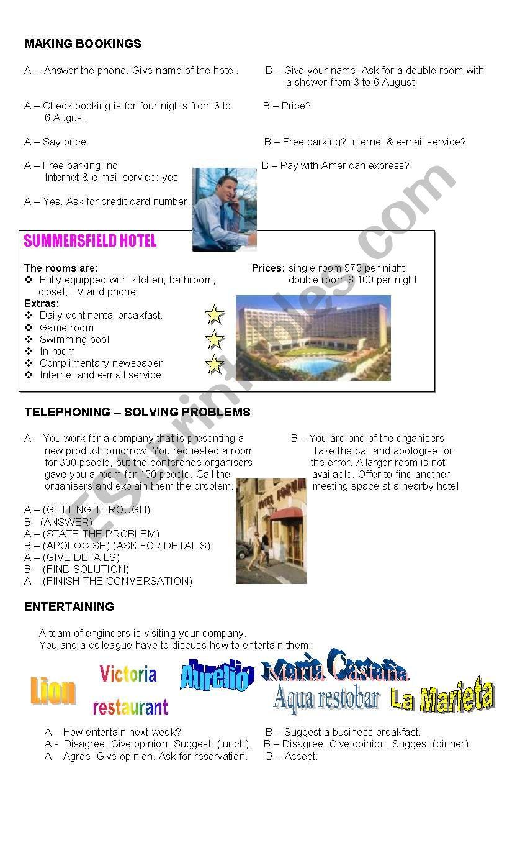 Business English worksheet