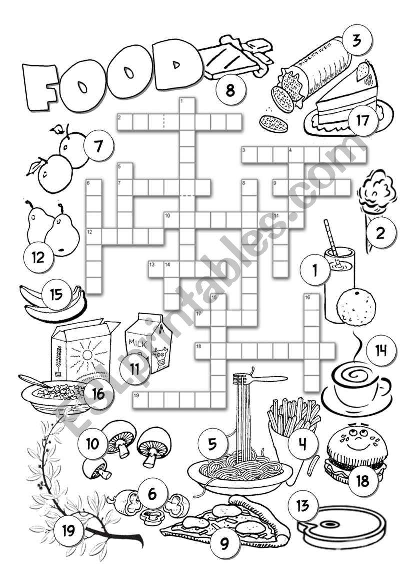 Food Crossword 1 worksheet