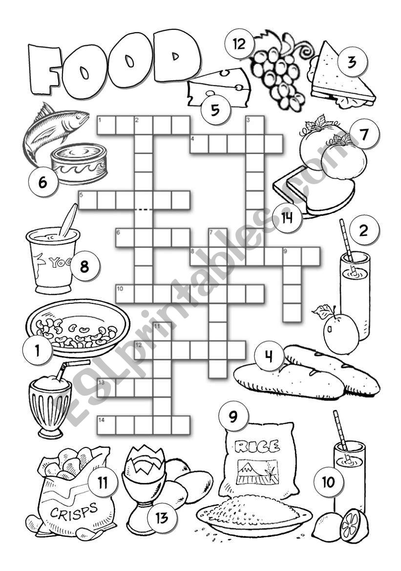 Food Crossword 2 worksheet