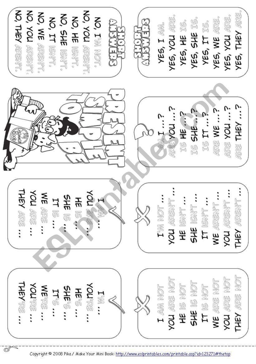 My Mini Grammar Book worksheet