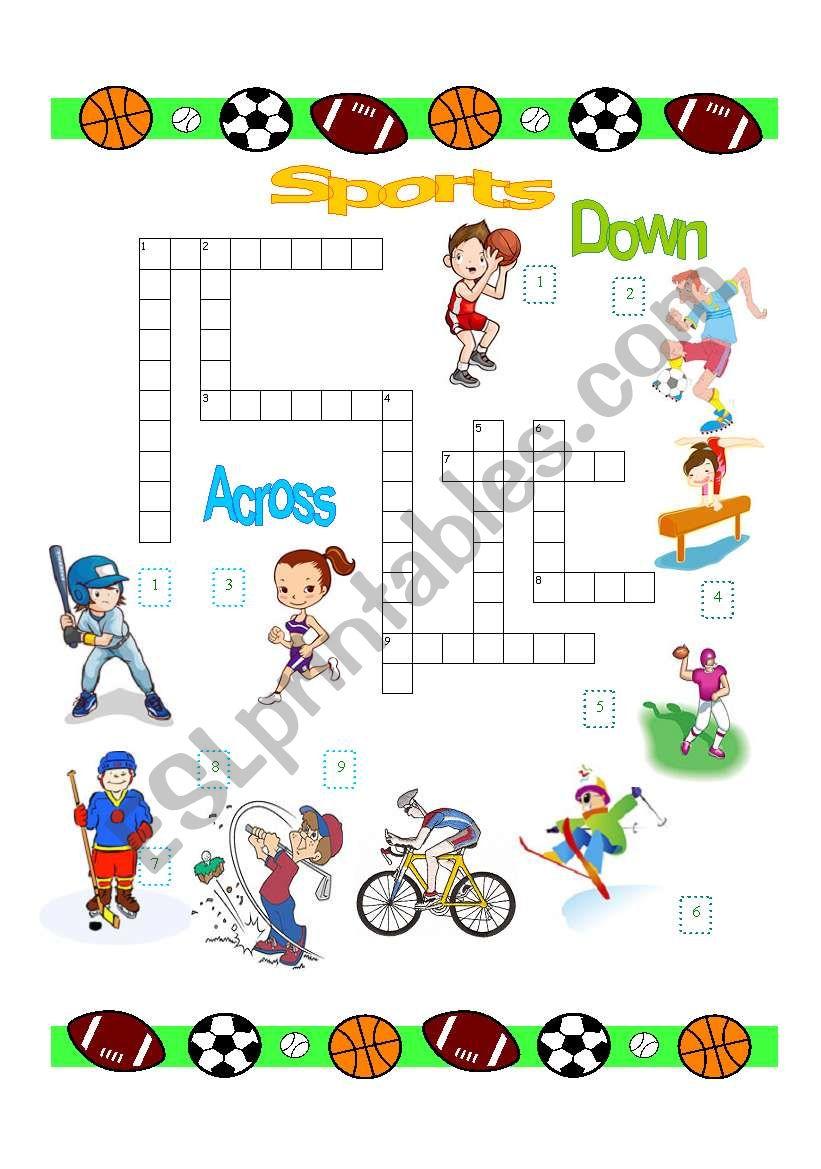 sports crossword esl worksheet by evaramos. Black Bedroom Furniture Sets. Home Design Ideas
