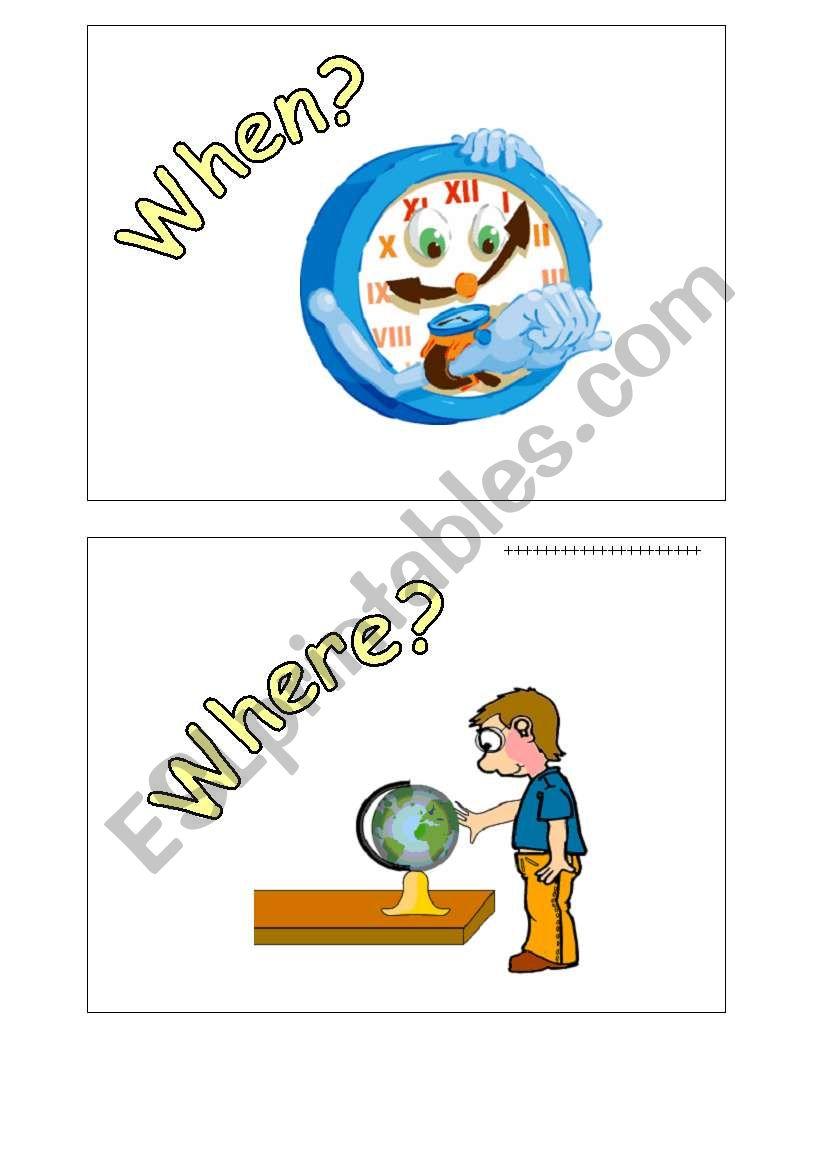 WH words worksheet