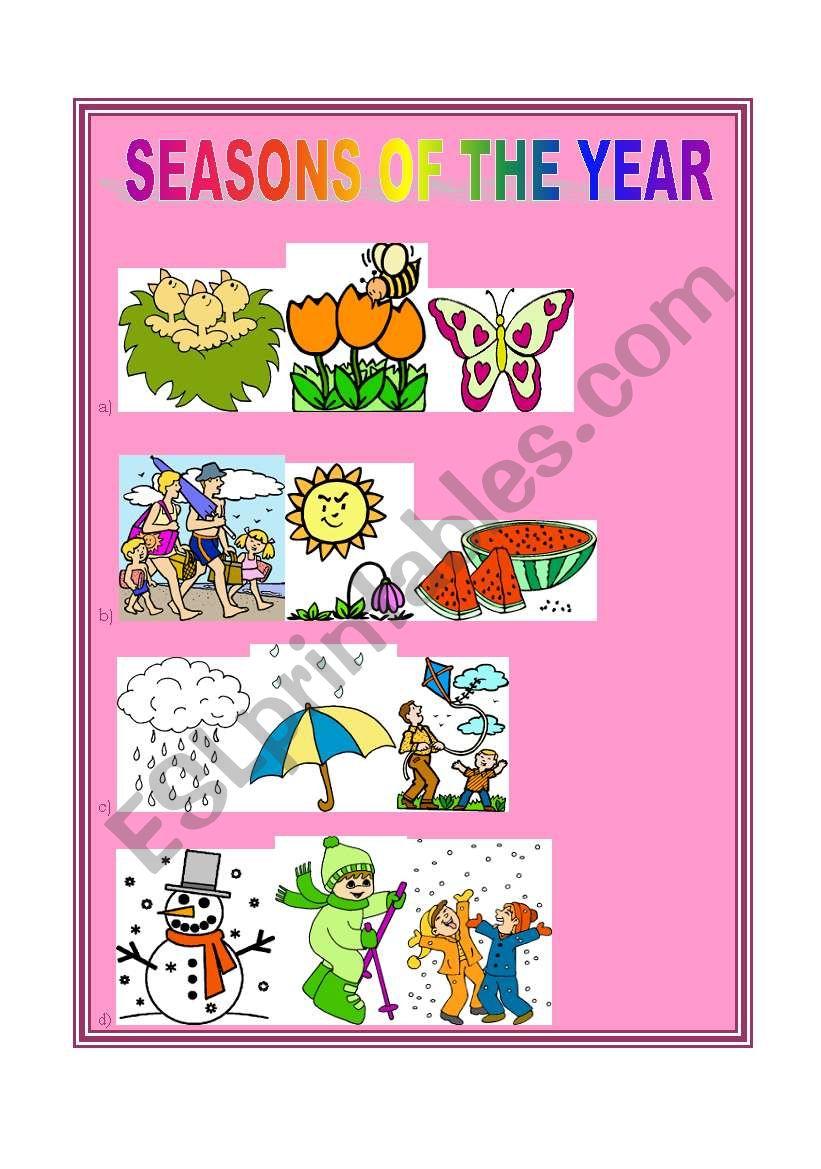 4 seasons worksheet
