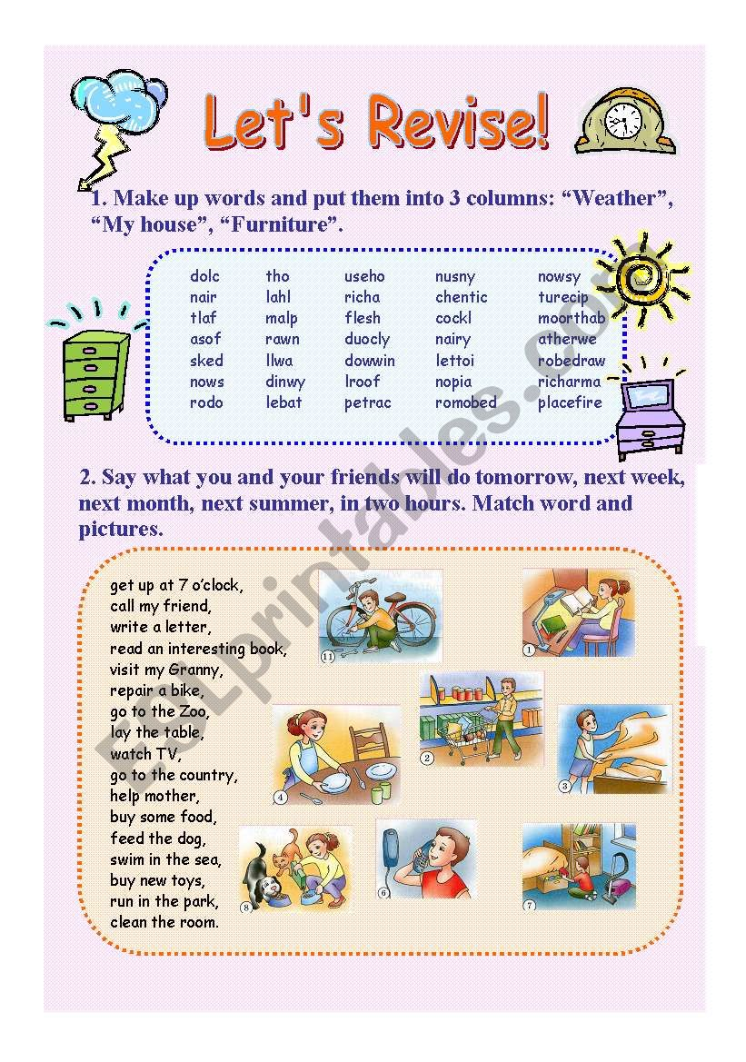 Let´s revise worksheet