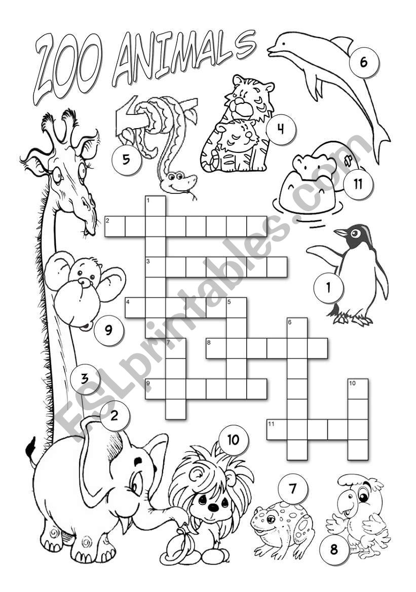 zoo animals esl worksheet by alenka. Black Bedroom Furniture Sets. Home Design Ideas