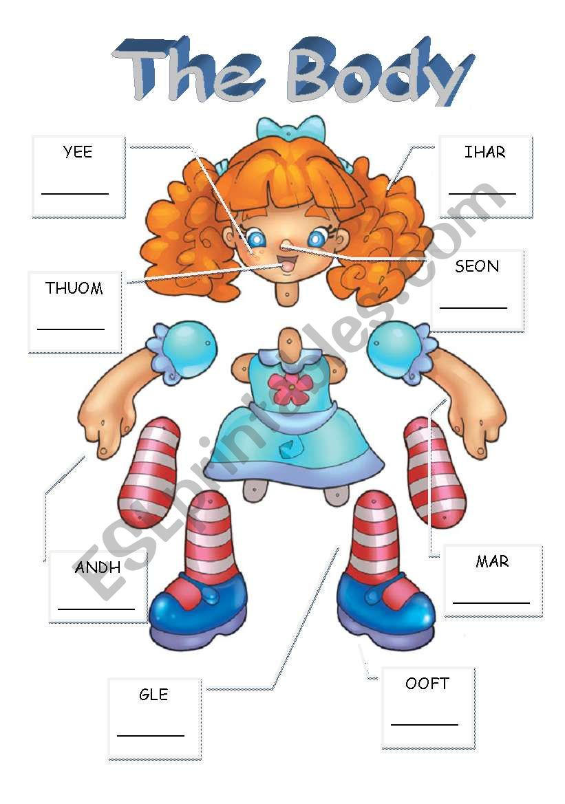 Label the doll and make a puppet