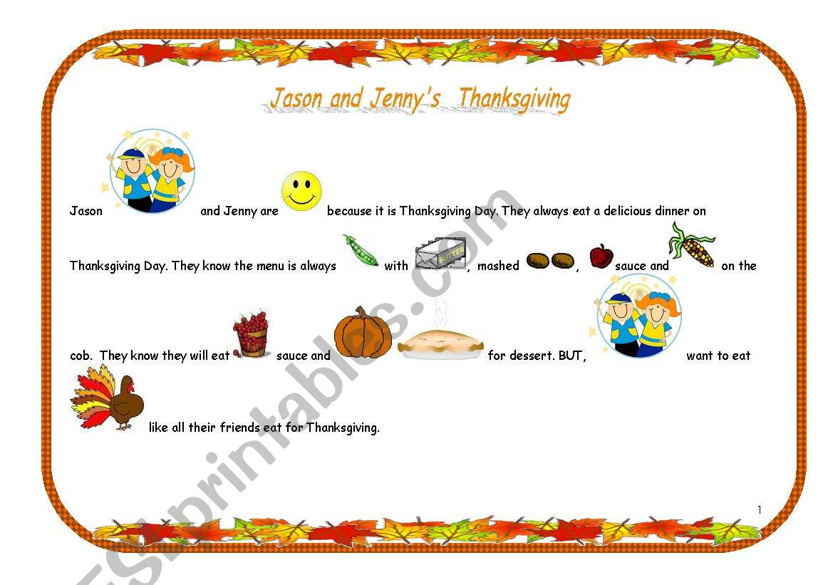 Jason and Jenny´s Thanksgiving (1/7)