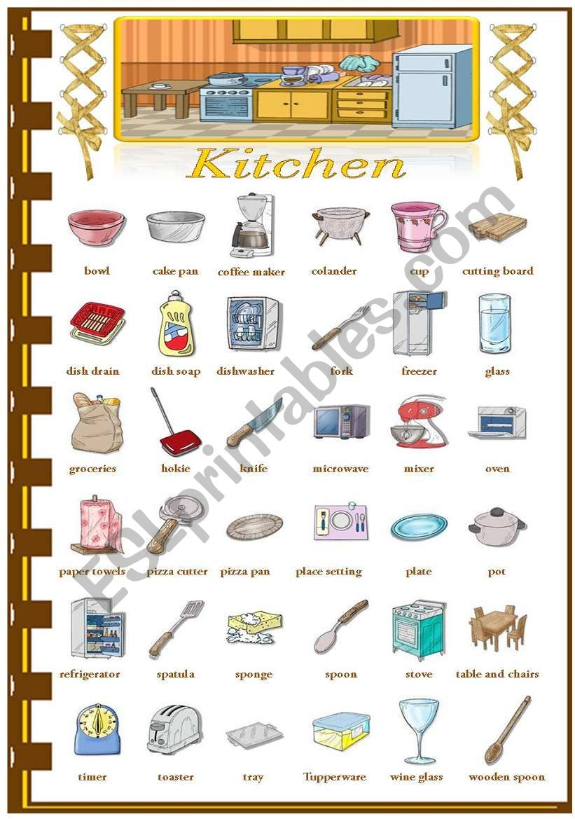Rooms in the house - Kitchen worksheet