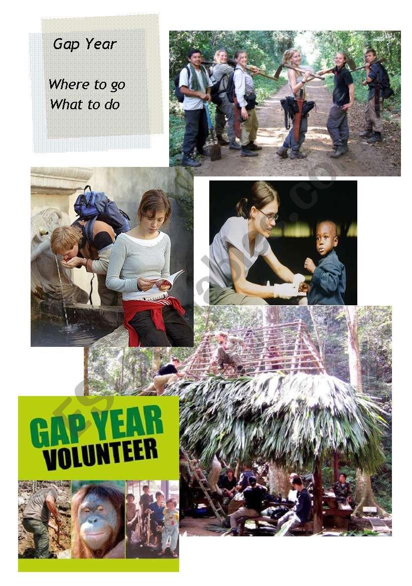 Gap Year 1/2 worksheet