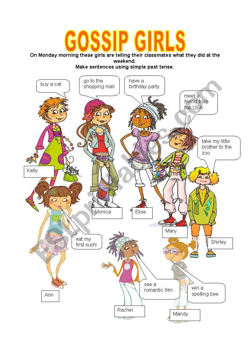 GOSSIP GIRLS worksheet