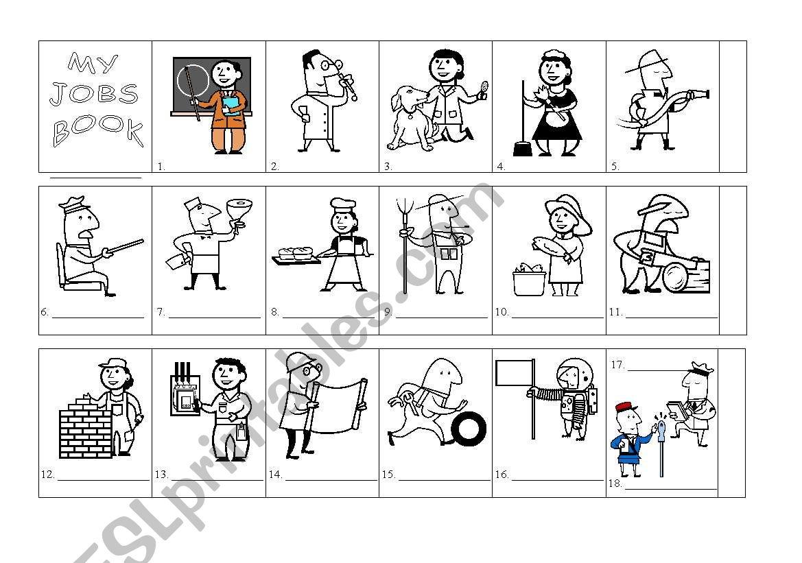 My jobs book worksheet