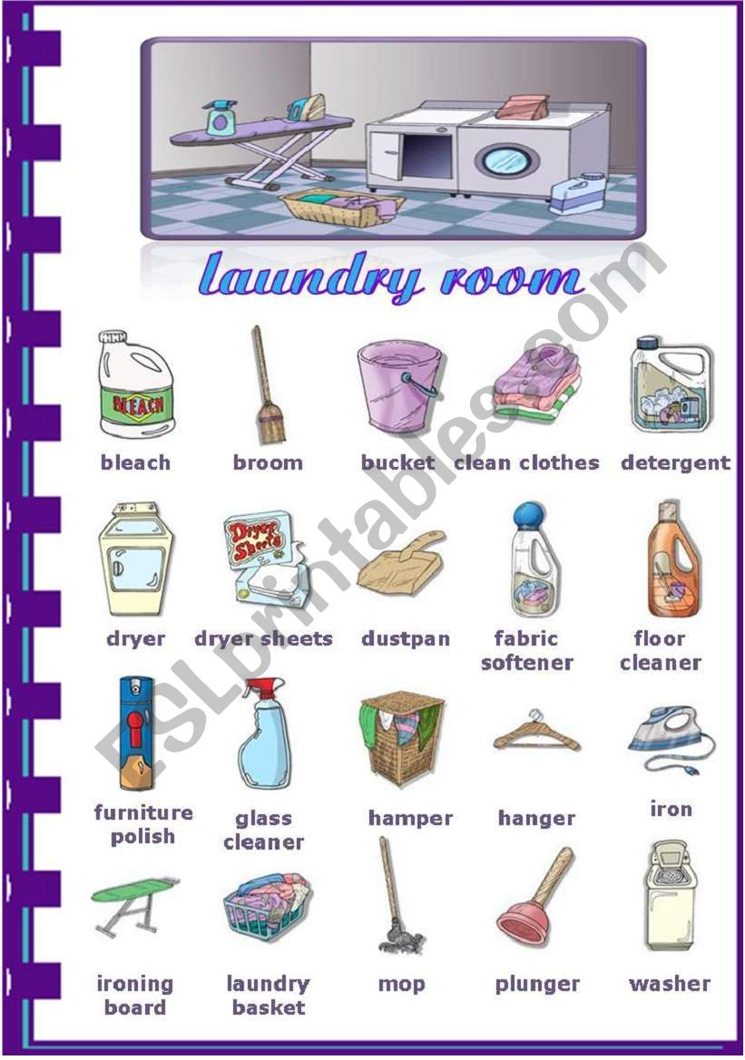 Rooms in the house - Laundry room