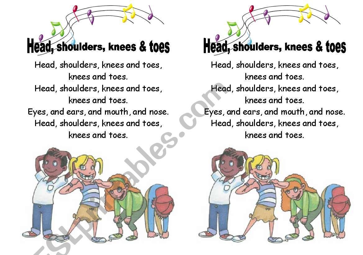 Head, shoulders, knees, and toes