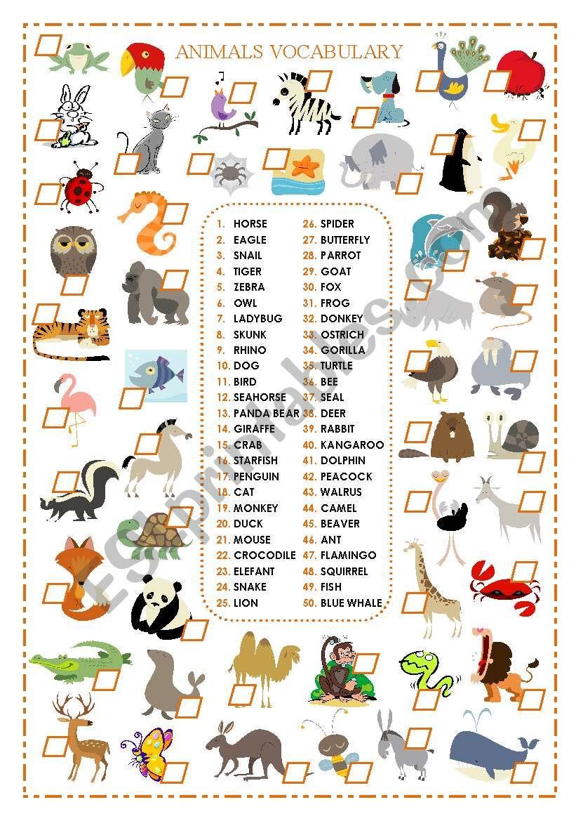 english worksheets animals. Black Bedroom Furniture Sets. Home Design Ideas