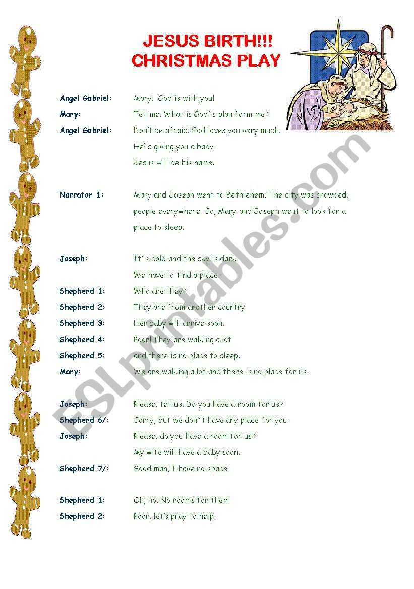 Christmas play! (3 pages) worksheet
