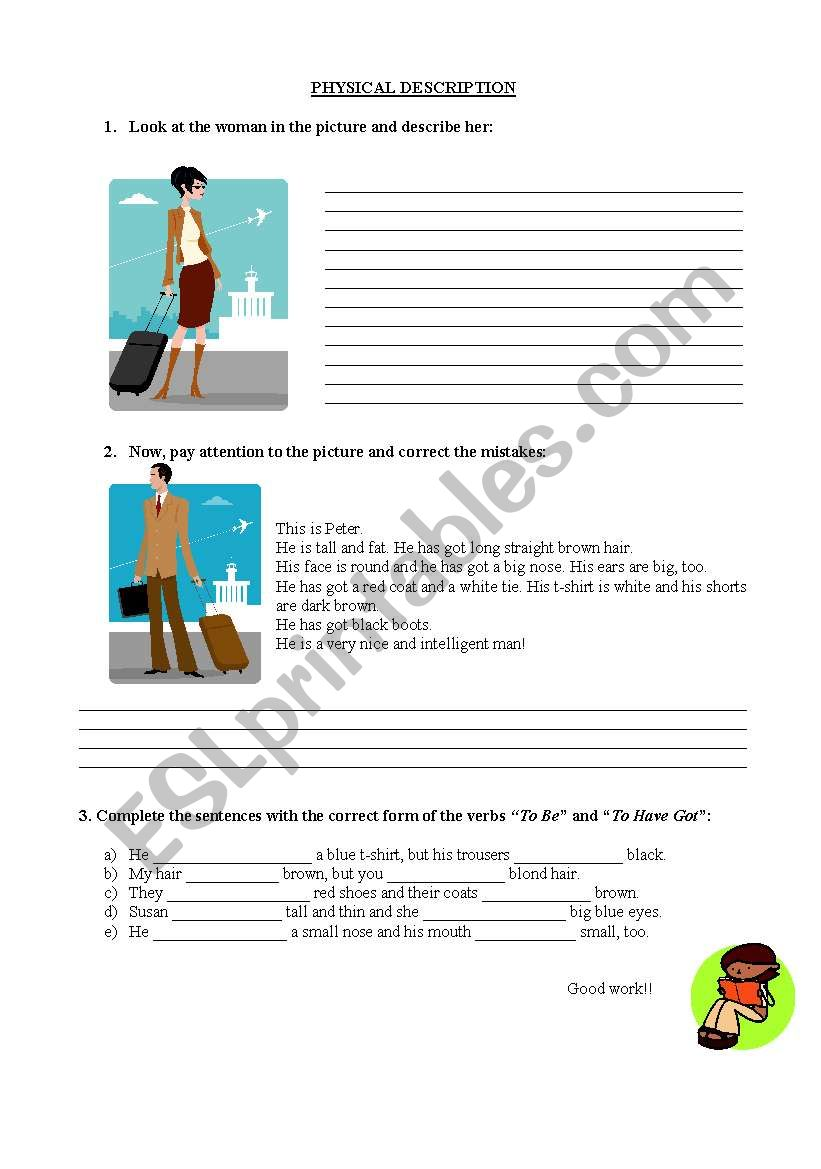 physical description worksheet